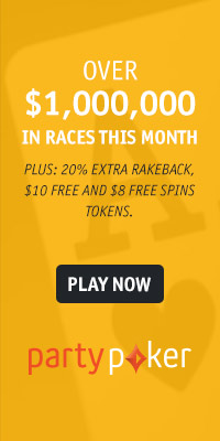 Mor than $1,000,000 in races at partypoker this month